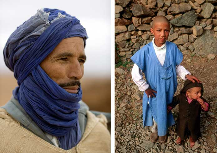 Portraits of berber: nomadic and children of the High Atlas
