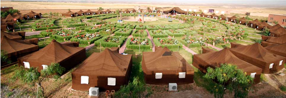 Layout of tents and gardens at Coueurs Berberes