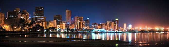 Durban skyline at night