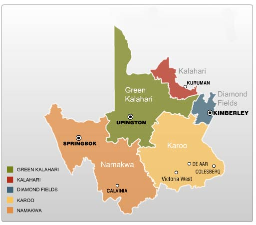 The regions of the Northern Cape