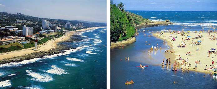 Umhlanga and Uvongo beach resorts
