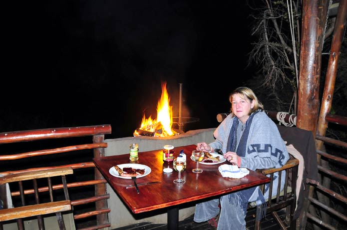 Lower Sabi - Braai (barbecue) at tented accommodation