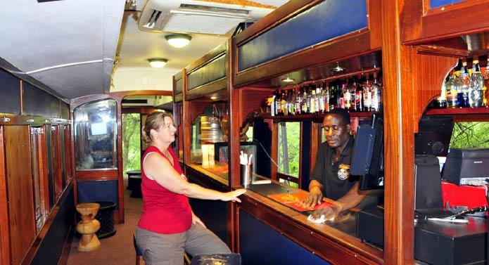 Selati Train Bar at Skukuza Camp